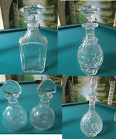 BACCARAT FRANCE CRYSTAL DECANTER PERFECTION, JONZAK, JUVISY, MARILLON PAIR PICK