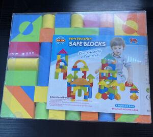 137 Pc Educational EVA Foam Building Blocks Boy Girl Safe Large Shapes Sizes NEW
