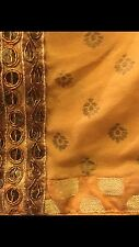 Ritu Kumar three PC. Embroidered Silk Salwar Suit In Gold Color fits Size small