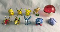 Lot of 9 Nintendo Pokemon Tomy Mini Figures - Articuno, Farfetch'd, Hitmonlee