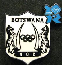 LONDON 2012 Olympic BOTSWANA NOC Internal team - delegation DATED pin