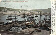 Genova Genua Italien Italia Ligurien 1906 Porto Hafen Segelschiffe Schiffe Boote