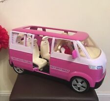 Barbie car bus 4 to 6 seater VW Volkswagen Microbus Mattel 2002 Sounds + Doll