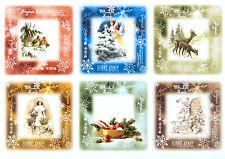 A/4 Classic Decoupage Paper Scrapbook Sheet Vintage Christmas Cards