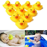 Lot 1/5/10/20Pcs Yellow Children Baby Bath Toys Cute Rubber Squeaky Duck Ducky