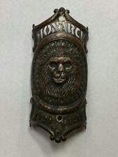 antique 1901 model MONARCH bicycle HEAD BADGE tag LION emblem TOC