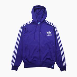 Adidas Originals Adicolor Mens Full Zip Trefoil Logo Hoodie Hoody XXL 2XL Purple