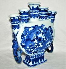 Chinese Blue & White Porcelain 5 Sacred Peaks Vase/Candle Holder