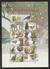 Indonesia 2009 Flora Fauna Bird Wild Animals Bear Tiger Stamp S/S