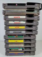 Nintendo NES 11 Game LOT Dr Mario Terminator Renegade Captain Skyhawk Hoops