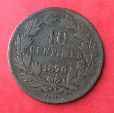 Luxembourg - Rare monnaie de 10 Centimes  1870 sans point