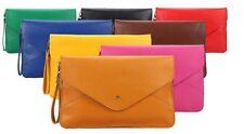 Oversized Envelope Clutch Purse Handbag Colours PU Leather Hand Shoulder Bag New