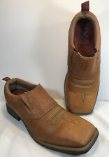 Twisted X Men's Handcrafted Leather Western Pull-on Shoes Low Boots
