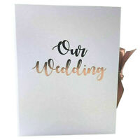 RoseGold OUR WEDDING Planner Organiser Folder Journal Diary Book Engagment Gift