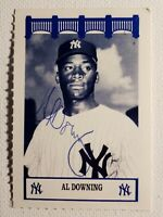 1992 The Wiz Al Downing Yankees 60's Auto Autograph Signed 2x3 Rare Card