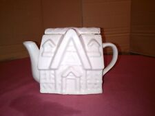 Vintage ornamental White Cottage Teapot.