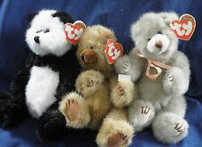 A76 TY Attic Treasures 4th gen hand tag panda bear Checkers,  Dickens,  & Cody