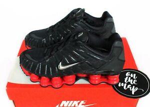 Nike X Skepta Shox TL Black Metallic Silver Red UK 4.5 US 5 EUR 37.5 New