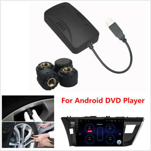 Car TPMS Tire Pressure Monitor System Alarm Security Kit For Android DVD Player