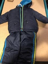 Baby Boy PACIFIC TRAIL 12 Month 2-Piece Snow Suit Blue NWT Fuzzy Hood
