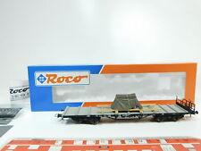 bf267-0,5 # ROCO H0 / DC 47223 VAGÓN PLATAFORMA / de carga DB NEM ,NUEVO +