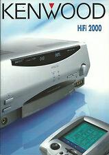 Kenwood Katalog Prospekt 2000 KRF-V9993D DVF-9010 KA-7090R DPF-J9030 X-S300