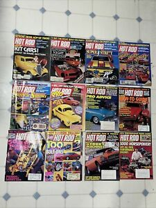 HOT ROD MAGAZINE 1981-1996 RELEASES LOT OF 12 DIFFERENT COPIES DON #55 FREE SHIP