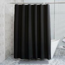 "black shower curtain size 70""x70"" incloud hook"