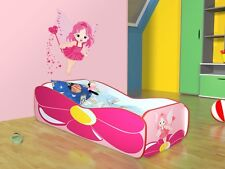 Children Bed FAIRY, Toddler Junior Bed For Girls Kids with mattress 140x70cm
