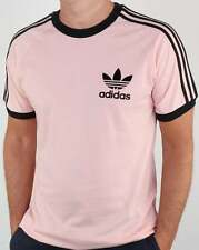 adidas Originals - Adidas CLFN T Shirt in Pink & Black - 3 stripe tee trefoil