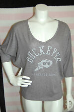 NEW Victoria's Secret PINK Collegiate Collection Buckeyes Batwing Logo Shirt~S