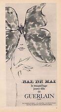 PUBLICITE ADVERTISING 015 1965 GUERLAIN le maquillage jeune fille