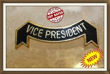 Bowling Badge - 💥 VICE PRESIDENT💥 - Black Enamel Badge For Club - New With Pin