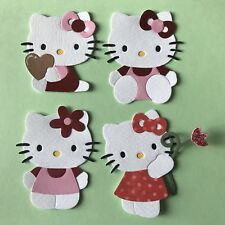Hello Kitty Four Different Cat Die Cuts Heart Stem Sitting Flower