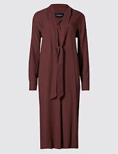 M&S AUTOGRAPH Tie Neck Shift Dress and Long Sleeve Bow Dress Size UK14/EUR42
