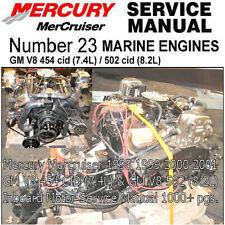 Mercury Mercruiser Service Manual GM 454 v8 GM 502 8.2l  Inboard Motor Boat  #23