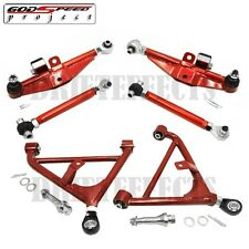 ADJUSTABLE FRONT REAR LOWER CONTROL ARM FOR 240SX S14 SUSPENSION SET US/JDM