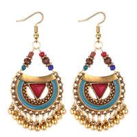 2019 Women Indian Ethnic Gold Bohemian Vintage Drop Dangle Earrings Jewelry