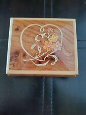 San Francisco Music Box Company Jewelry Box Wit Flowers On Lid