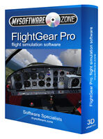 FlightGear Flight Simulator PC Pro Deluxe Professional Software Game Sim Flying