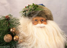 Eye-Catching Collectible Striking Santa Claus Green/Blue Figurine Holiday New
