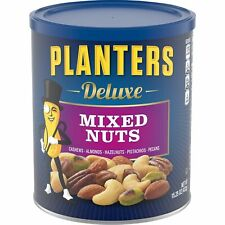 Planters Deluxe Mixed Nuts with Hazelnuts, 15.25 Oz. Resealable Jar - Cashews.