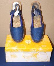 Yellowbox Winsom Espadrille Flat Sandal Womens Shoe BLUE Size 7.5 Open Slingback