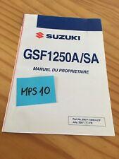 Suzuki GSF1250A / SA K8 GSF1250 manuel entretien conducteur propriétaire moto