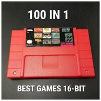 100 In 1 Super Game Cartridge 16-Bit Multicart NTSC SNES For Nintend Super SAVE