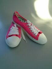 SUPERDRY  BRIGHT CANDY PINK CANVAS  PUMPS odd sizes
