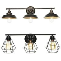 Oil-Rubbed Bronze Vanity Light Bathroom Wall Farmhouse Vintage Industrial Shades