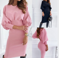 Womens sexy Plus size Dress Ladies Stretch Loose Long Holiday Maxi Wrap Dresses