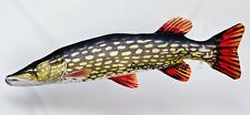 GIANT Northern Pike Soft Toy Fish pub fishing angling pillow Muskie 110 cm