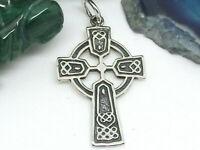Keltisches Kreuz 925 Sterling Silber Anhänger Kette Wikinger Kelten